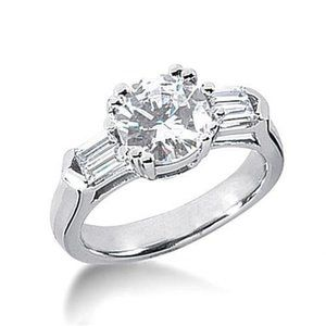 2.50 carat Round diamonds engagement ring gold